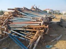 Jaques de aço - construção Imagem de Stock