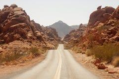 jarów czerwony drogi skały kołysanie się Obrazy Stock