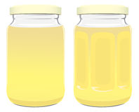 Jar. The figure shows a jar of honey Stock Image