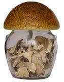A Jar. Mushroom shaped jar stock images