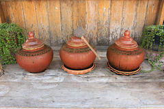 Jar of Ancient Water,thailand Royalty Free Stock Photo