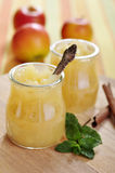 Jar of apple jam Royalty Free Stock Photos