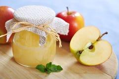 Jar of apple jam Stock Image