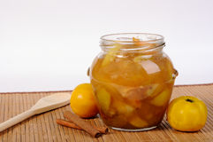 Jar with apple jam Stock Image