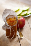 Jar of apple jam Stock Image