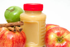 Jar Of Applesauce Stock Photography