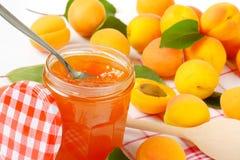 Jar of apricot jam Stock Image