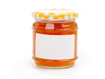 Jar with apricot jam Royalty Free Stock Photography