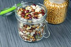 Jar of beans Stock Photo