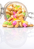 A Jar Of Belly Button Ice Jem Biscuits II Stock Photo