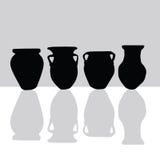 Jar black silhouette art vector Stock Photos