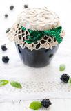 A Jar of Blackberry Jam Royalty Free Stock Image
