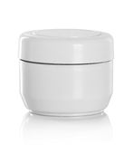 Jar or blank packaging for cosmetic product Royalty Free Stock Photos