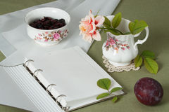 Jar and Bowl Of Fine Bone China. Traditional Royalty Free Stock Photos