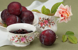 Jar and Bowl Of Fine Bone China. Traditional Royalty Free Stock Images