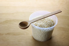 Jar of Bread Crumbs Stock Image