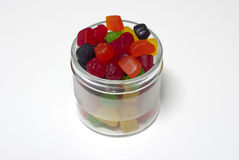 Jar of Candy. Jar filled with colourful assortment of Candy Royalty Free Stock Photos