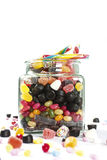 Jar with candy Royalty Free Stock Photo