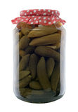 Jar of canned cucumbers Royalty Free Stock Image