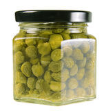 Jar of capers Royalty Free Stock Photo