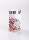 Jar or ceramic jar on a background. Jar or ceramic jar on a background Stock Images