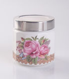 Jar or ceramic jar on a background. Royalty Free Stock Image