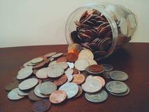 Jar of change Stock Photo