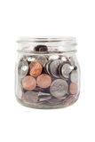 Jar of Change Isolated Royalty Free Stock Photos