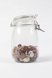 Jar of Change Isolated Royalty Free Stock Photo