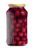 Jar with cherries Stock Images
