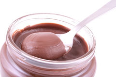 Jar of chocolate royalty free stock images