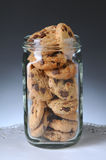 Jar of Chocolate Chip Cookies Stock Photo