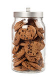 Jar of chocolate chip cookies Royalty Free Stock Photo