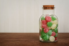 Jar of christmas gum drops Stock Photography