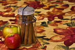 Jar of Cinnamon Sticks Stock Images