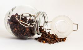Jar of cloves Stock Image