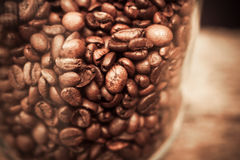 Jar of coffee beans Stock Photo