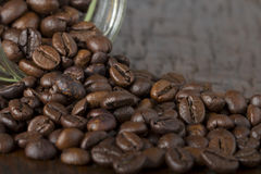Jar with coffee beans Stock Photo