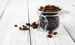 Jar with  coffee beans Royalty Free Stock Photography
