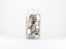 A jar of coin Royalty Free Stock Image