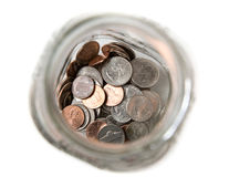 Jar of coins Royalty Free Stock Photo