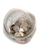 Jar of coins Royalty Free Stock Images