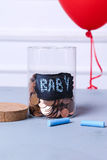Jar for coins Royalty Free Stock Images