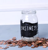 Jar for coins Stock Images