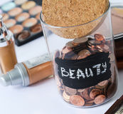 Jar for coins Royalty Free Stock Photo