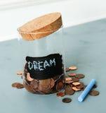 Jar for coins Stock Photos