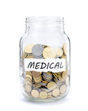 Jar with coins on Medical Stock Photos