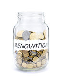 Jar with coins on Renovation Royalty Free Stock Photography