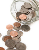 Jar of coins Stock Image