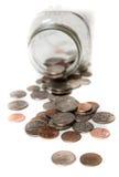 Jar of coins Royalty Free Stock Photos